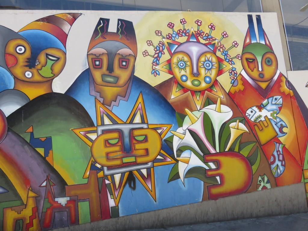 Peintures sur les murs du marché principale
