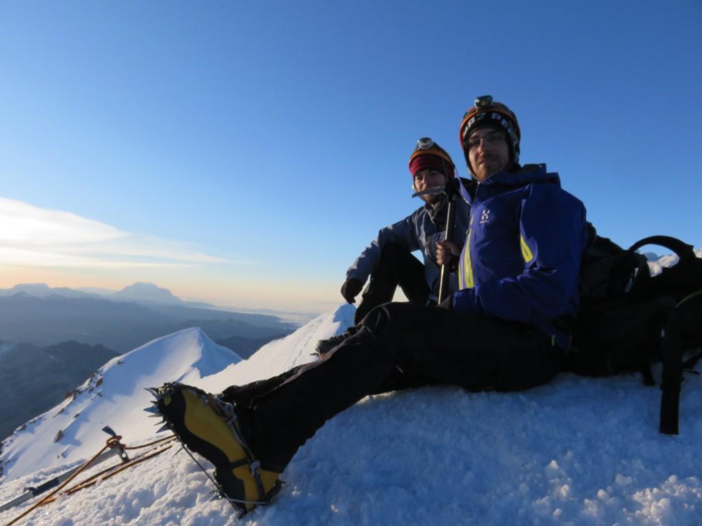 Mathieu et moi au sommet