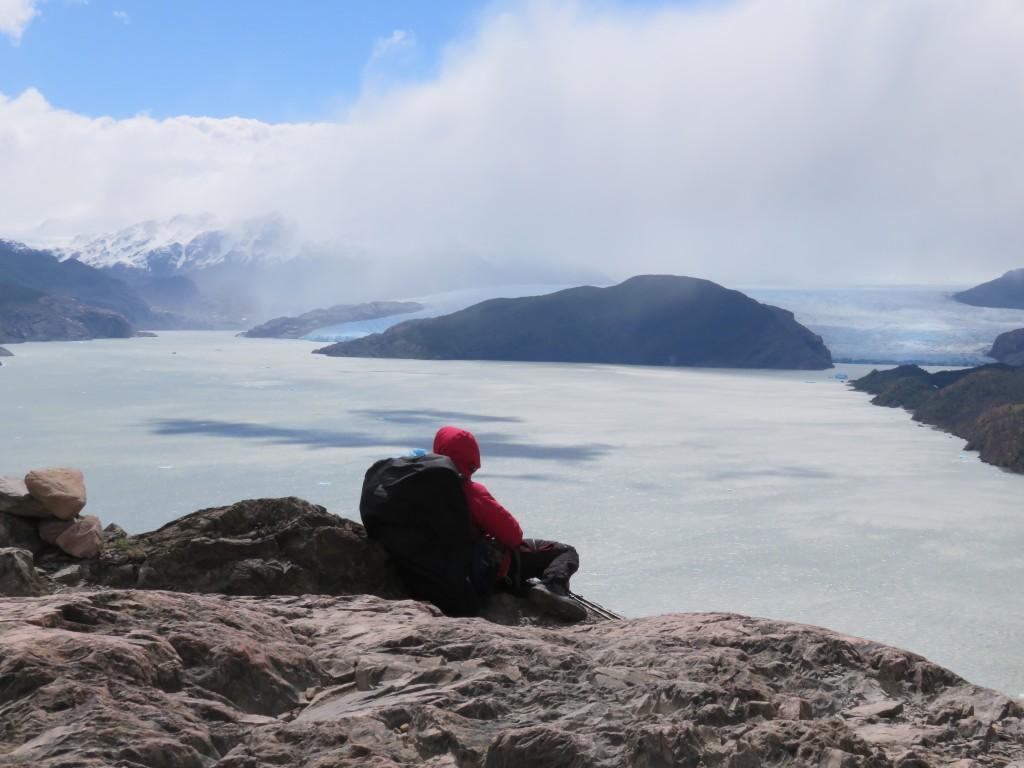 Première vue sur le glacier au loin